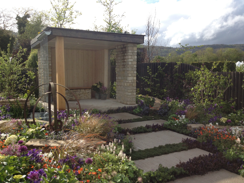 rhs silver gilt medal garden the cotswold way amy